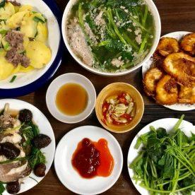 Món ăn đa dạng góp phần tạo sức hút cho mâm cơm gia đình
