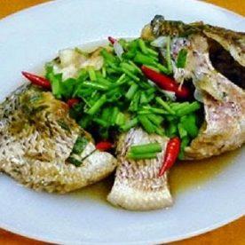 Món cá luộc đơn giản