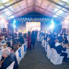 Dạ tiệc ngoài trời 500 khách tại Vinhomes Thăng Long