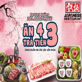 Ưu Đãi T2 Ở Sashimi BBQ Garden