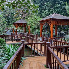 Nhà hàng hảo sản san hô đỏ là nhà hàng sân vườn đẹp nhất trong hệ thống Maison