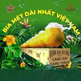 Bia dài nhất Việt Nam tại Nhà hàng Vườn Bia Hà Nội 2