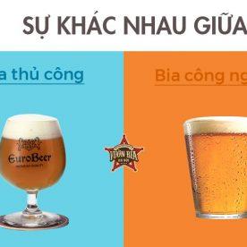 So sánh Craft Beer và Bia Công Nghiệp nhà hàng Vườn Bia Hà Nội 7
