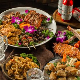 Món nướng nhà hàng Vườn Bia Hà Nội khi đi ăn gia đình