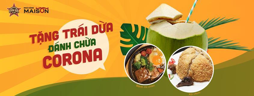 Nhà hàng Maison, Nhà hàng Vươn Bia Hà Nội tặng trái dừa 2020 ảnh 2