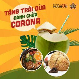 Nhà hàng Maison, Nhà hàng Vươn Bia Hà Nội tặng trái dừa 2020 ảnh 3